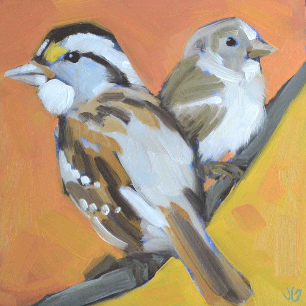 """Sparrow"" original fine art by Jessica Green"