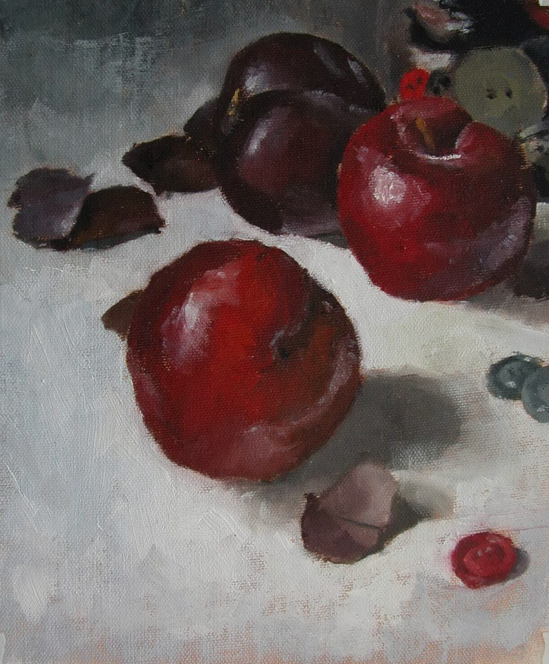 """Red Plums"" original fine art by Richard Jones"
