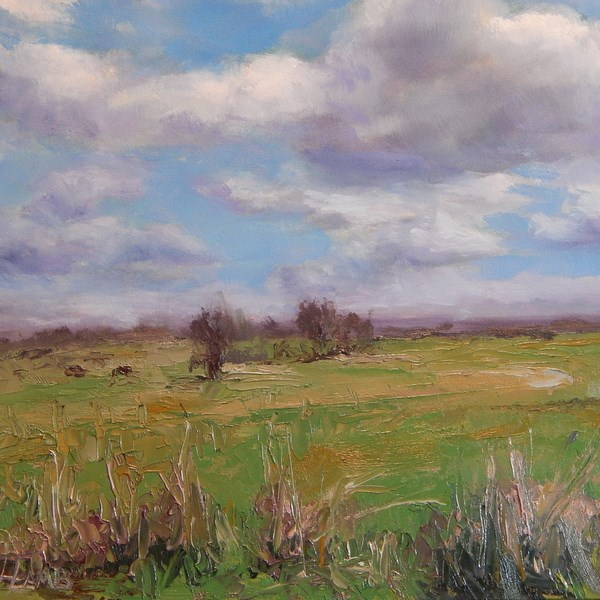 """Spring View"" original fine art by Lori L. Lamb"