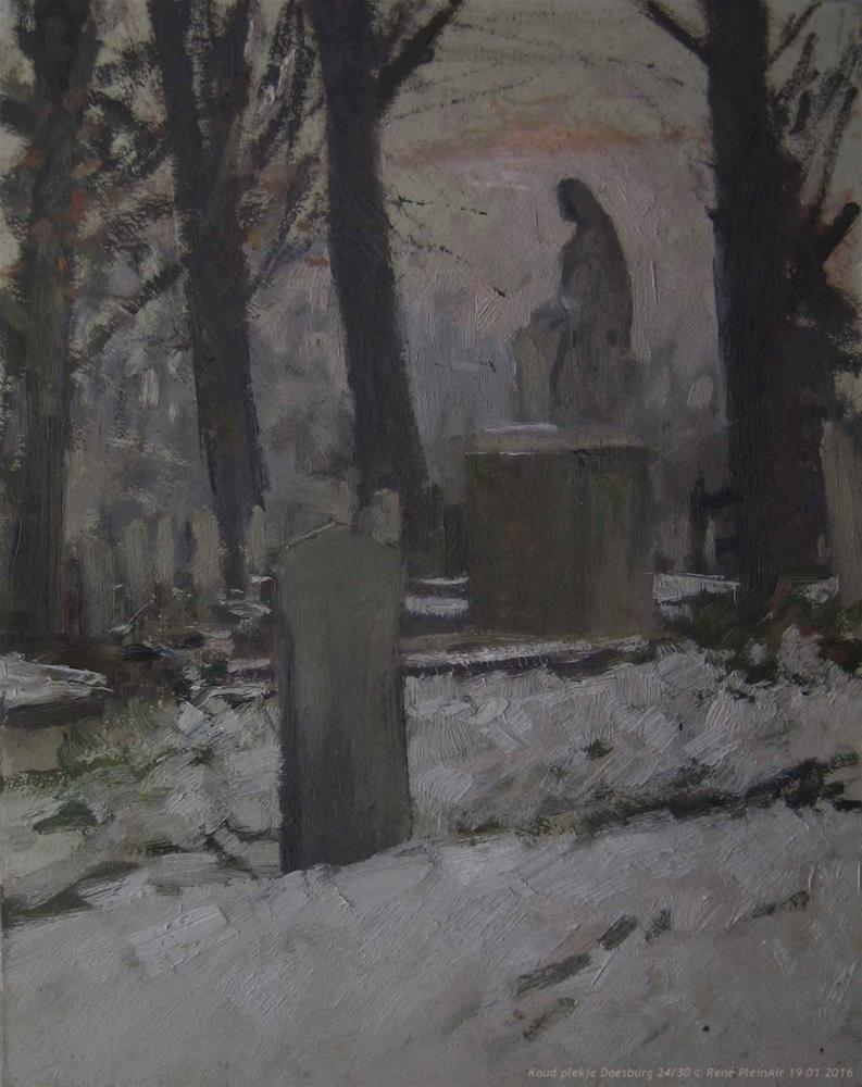 """Cold spot. Doesburg, The Netherlands."" original fine art by René PleinAir"