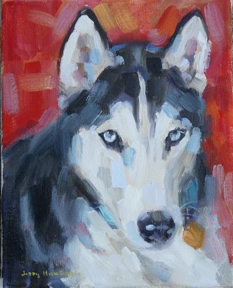 """Siberian Husky"" original fine art by jerry hunsinger"