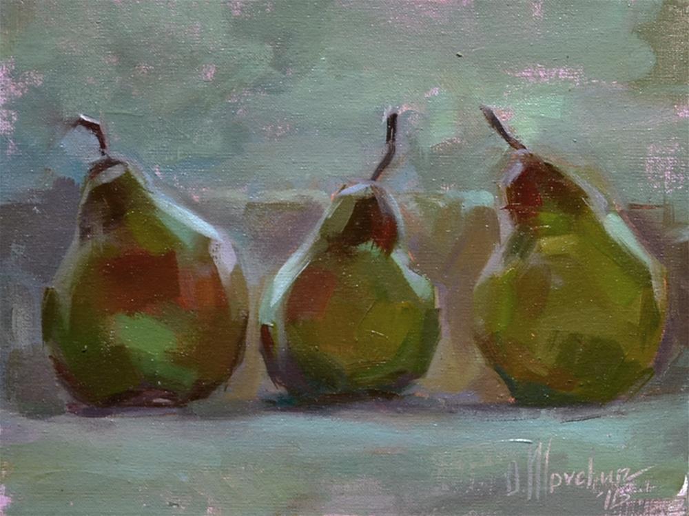 """The Pears In The Winter Light"" original fine art by Oleksii Movchun"