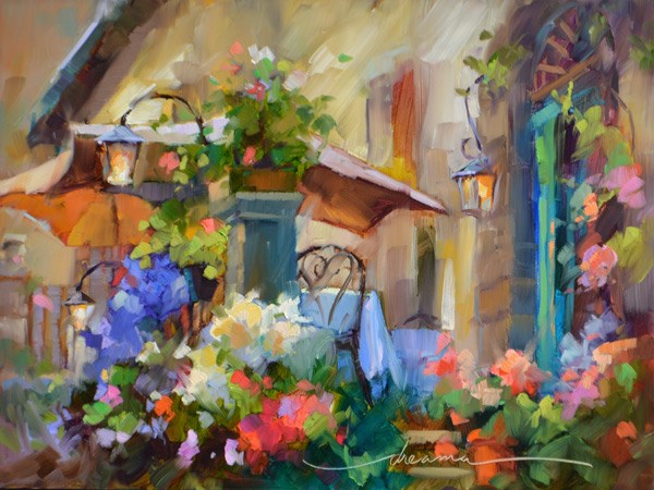 """Out for the Evening in Tuscany"" original fine art by Dreama Tolle Perry"