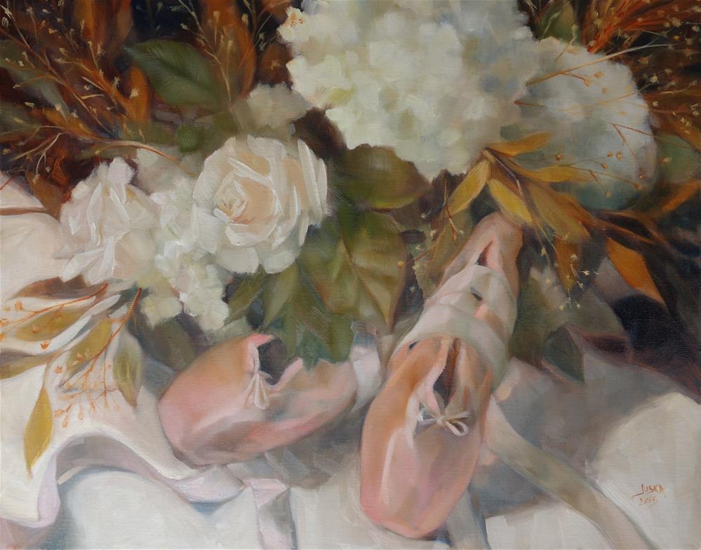 """Rose Ballet"" original fine art by Elaine Juska Joseph"