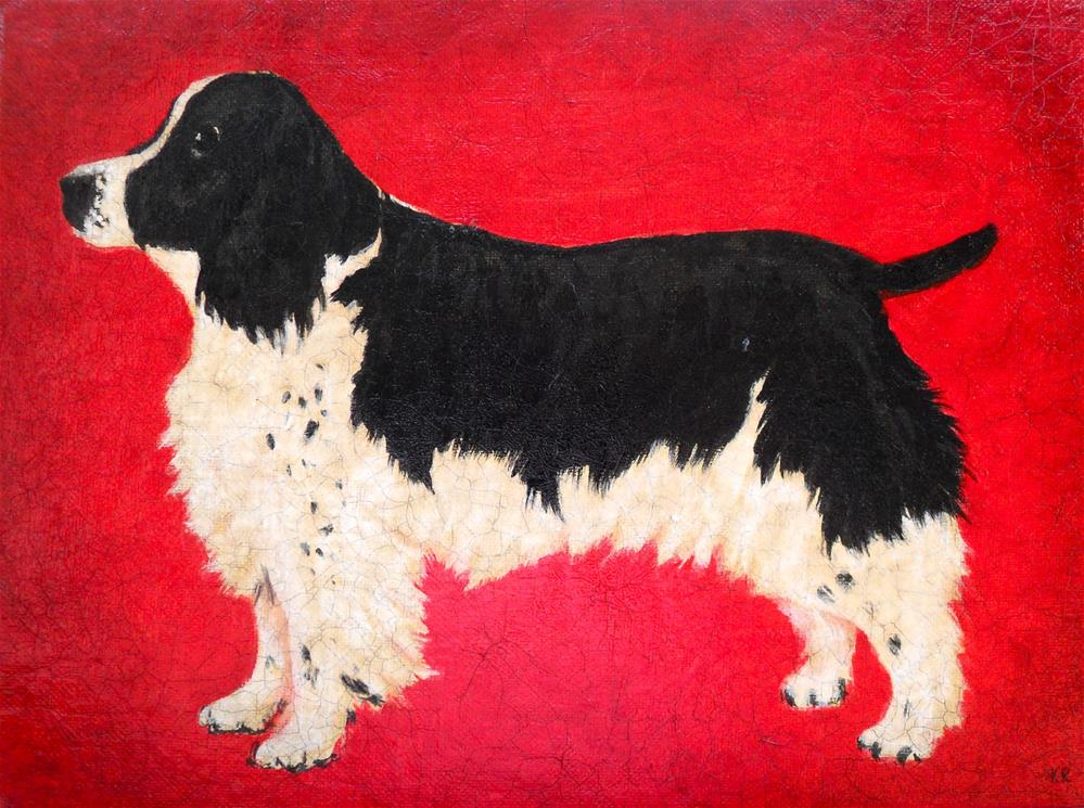 """Dog"" original fine art by Karen Roncari"