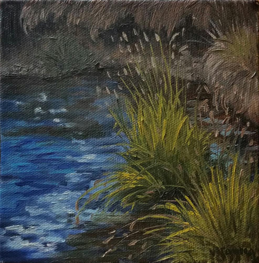 """River Grass"" original fine art by Veronica Brown"