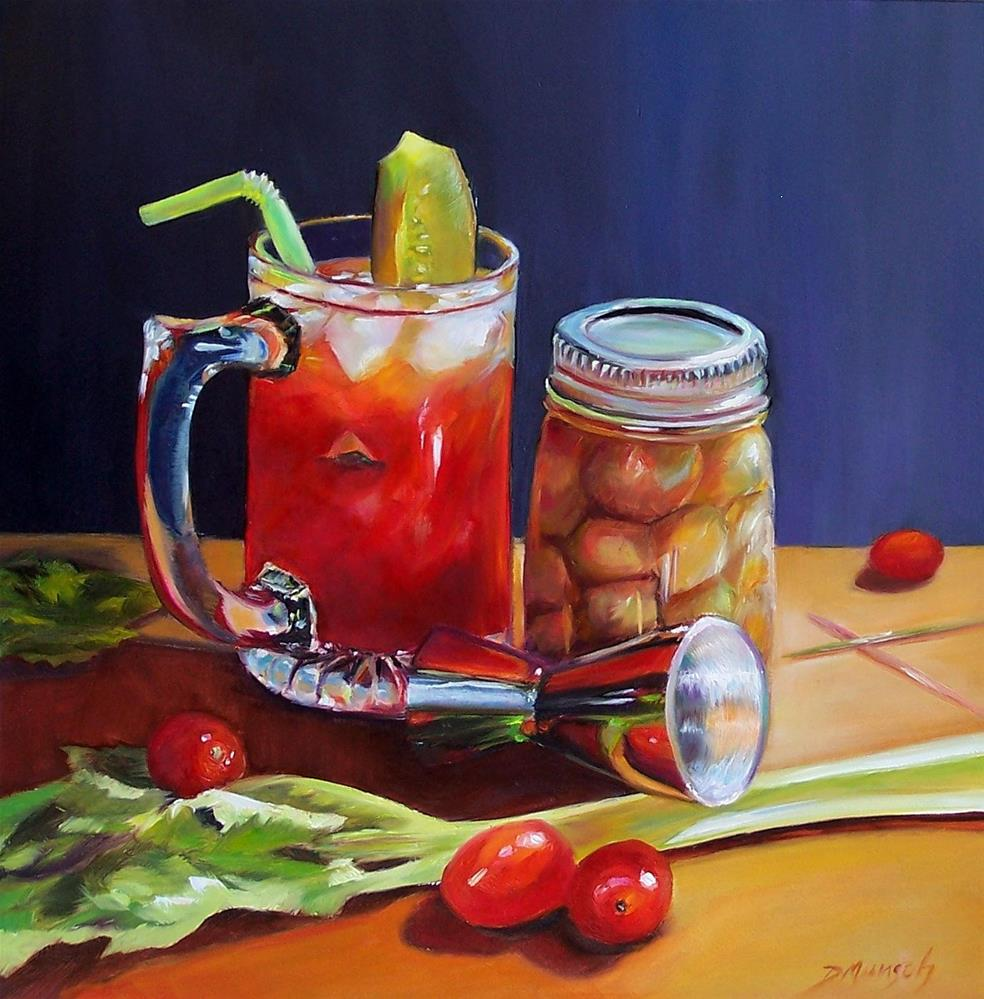 """Harvey's Bloody Mary"" original fine art by Donna Munsch"