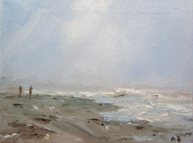 """Seascape Salty Water smell (2)"" original fine art by Astrid Buchhammer"