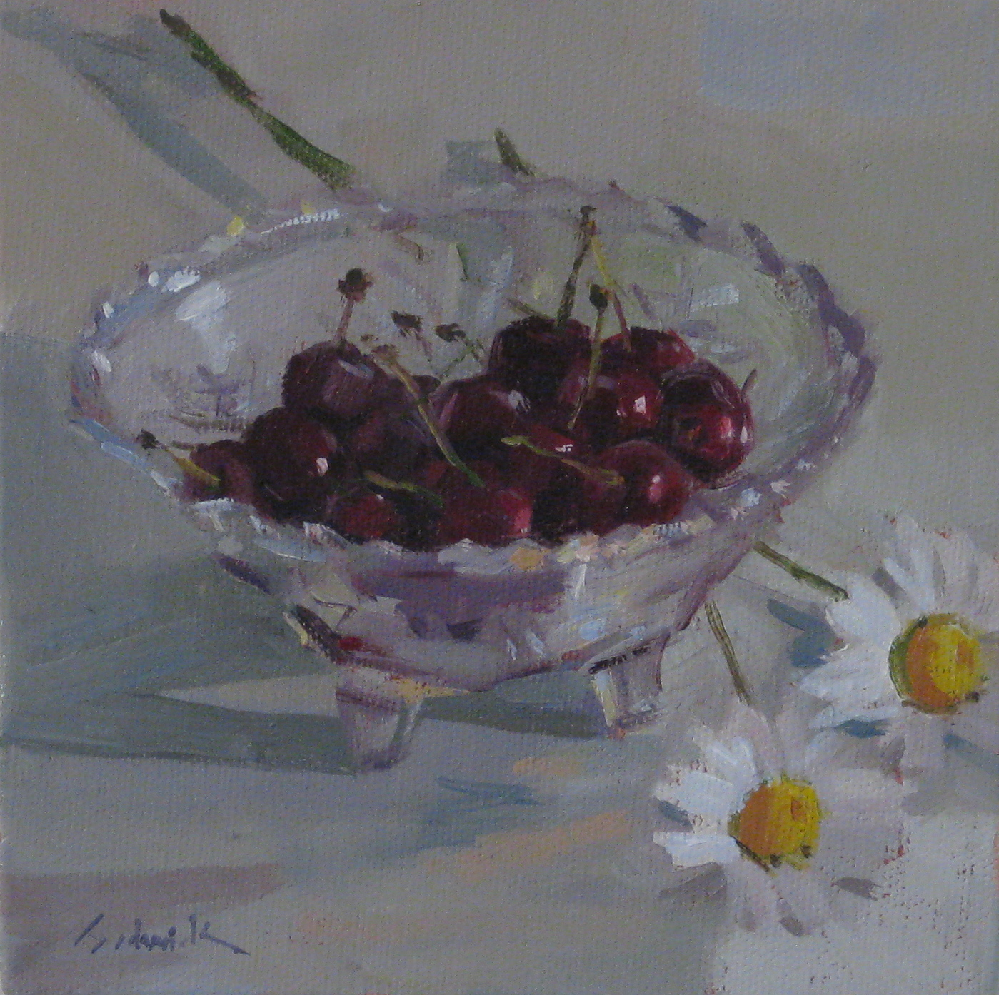 """A Bowl of Cherries"" original fine art by Sarah Sedwick"