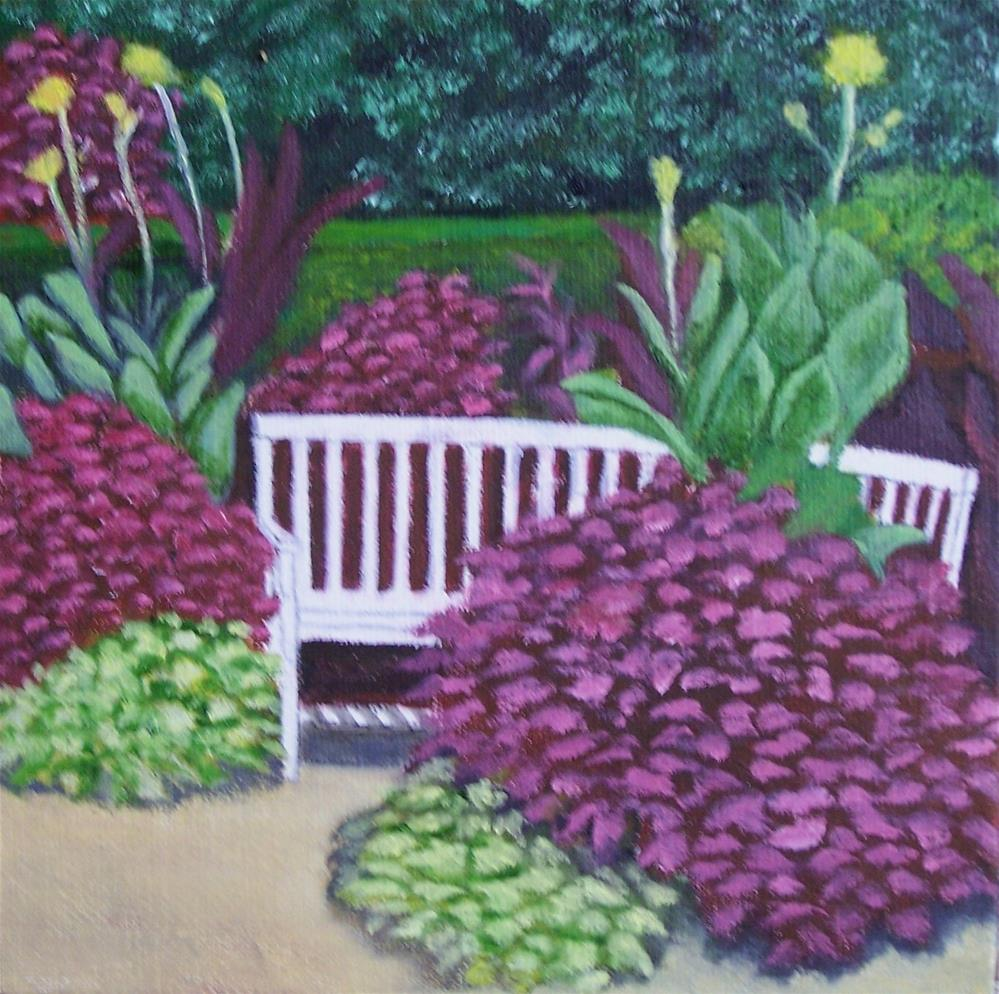 """The Park Bench"" original fine art by John Marcum"