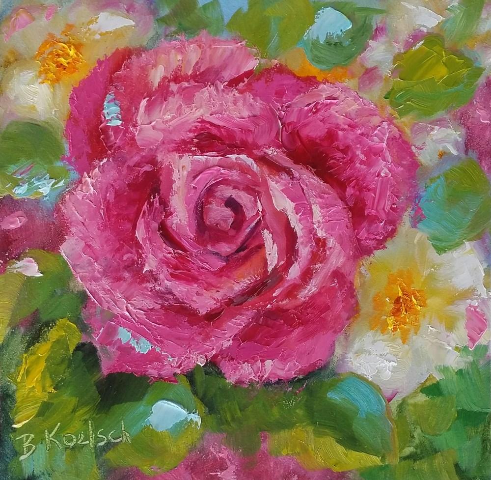 """""""Poppin' Pink"""" original fine art by Bobbie Koelsch"""