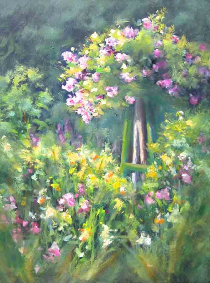 """Rose Arbor"" original fine art by Pat Fiorello"