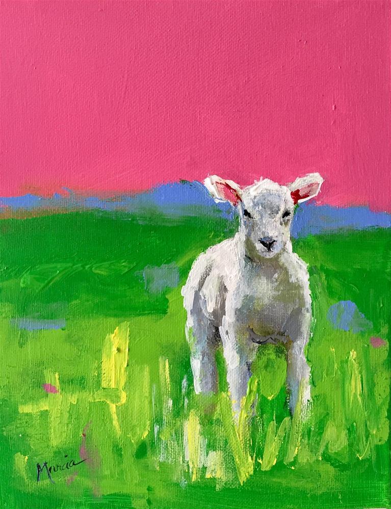 """Easter Lamb"" original fine art by Marcia Hodges"