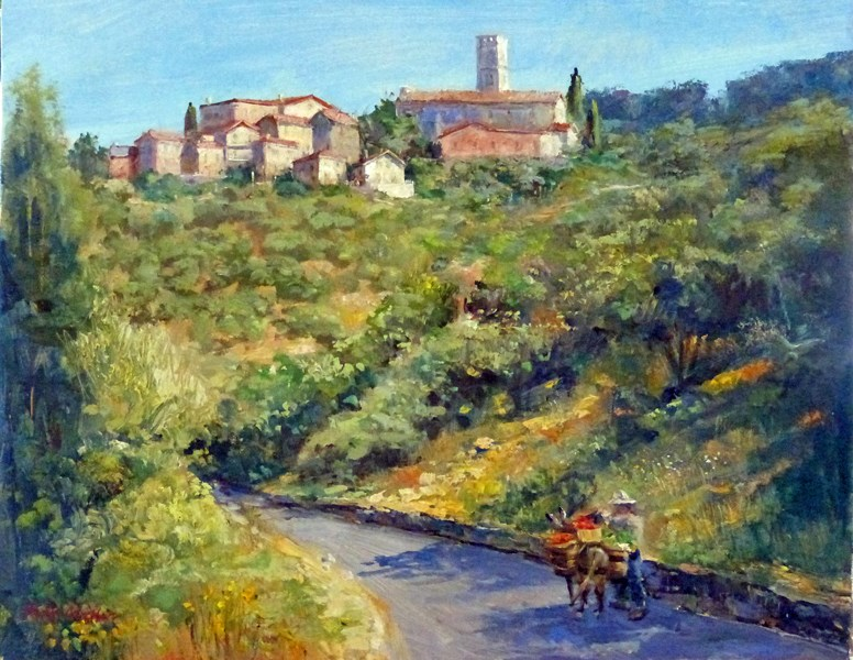 """Going to Market"" original fine art by Kirk Miller"