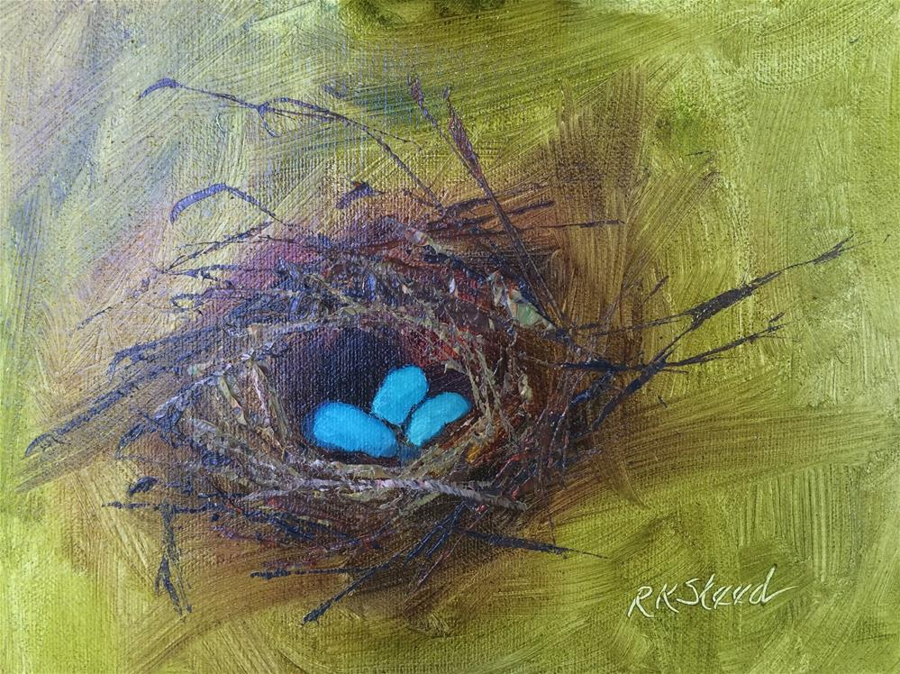 """Nest 3, Trio"" original fine art by Roxanne Steed"