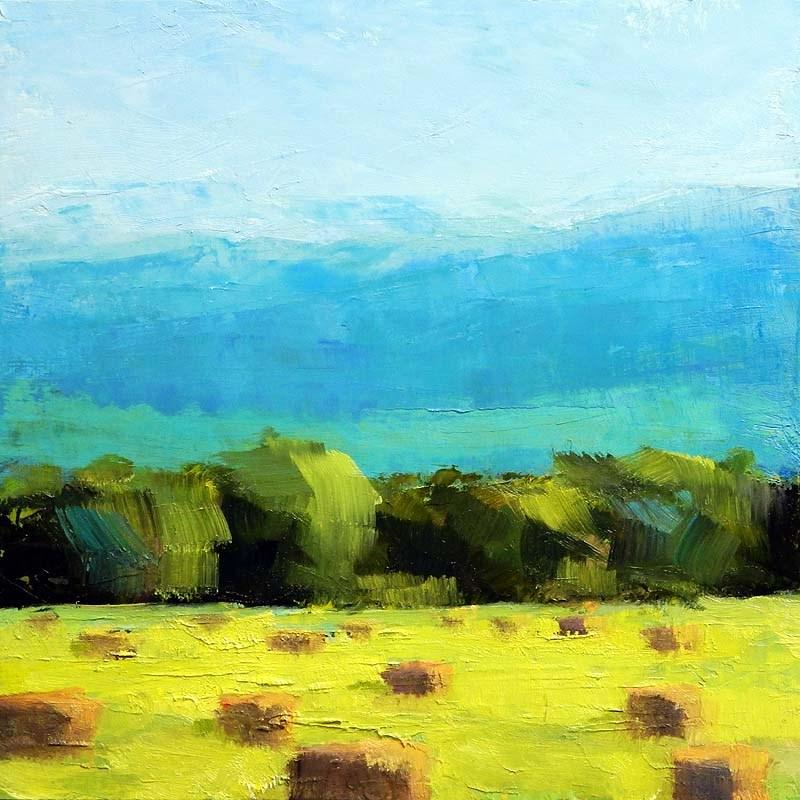 """""""Summer Bales"""" original fine art by Carolyn Caldwell"""