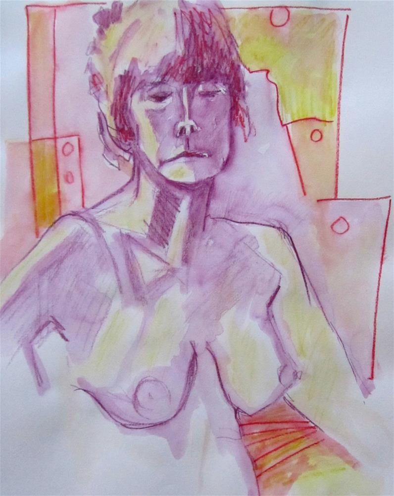 """Sketchbook Figure Study #7"" original fine art by Patricia MacDonald"
