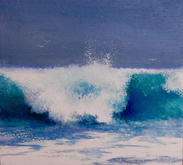 """""""SURFS-UP"""" original fine art by Gerald Schwartz"""