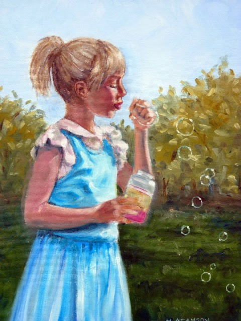"""Bubble Breeze"" original fine art by Helene Adamson"