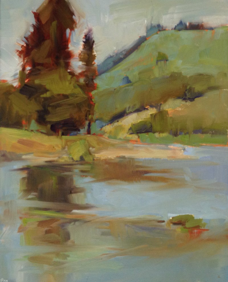 """Umpqua River Pivot"" original fine art by Patti McNutt"