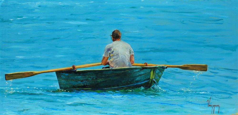 """Rowing home"" original fine art by Marco Vazquez"