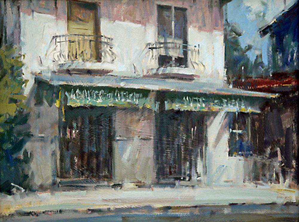 """French Restaurant"" original fine art by Mike Peterson"