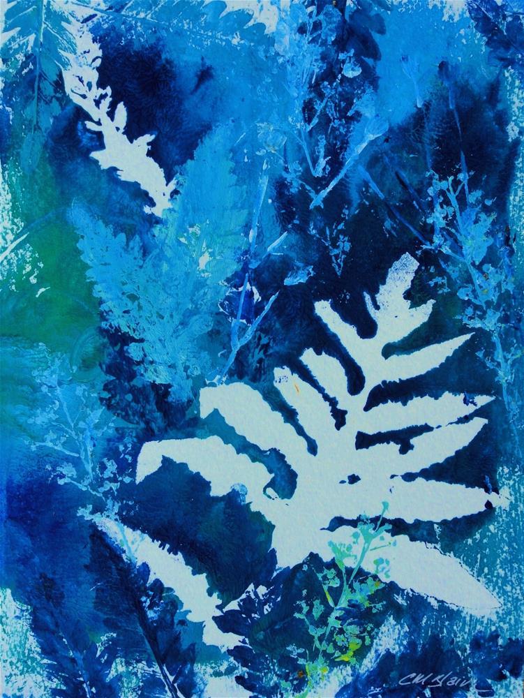 """Summer Woods II (monotype)"" original fine art by Christine Blain"