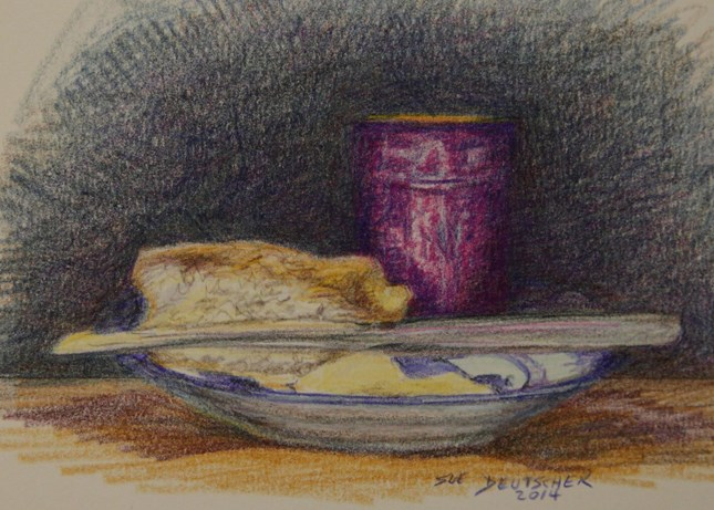 """Jean's Jam"" original fine art by Sue Deutscher"