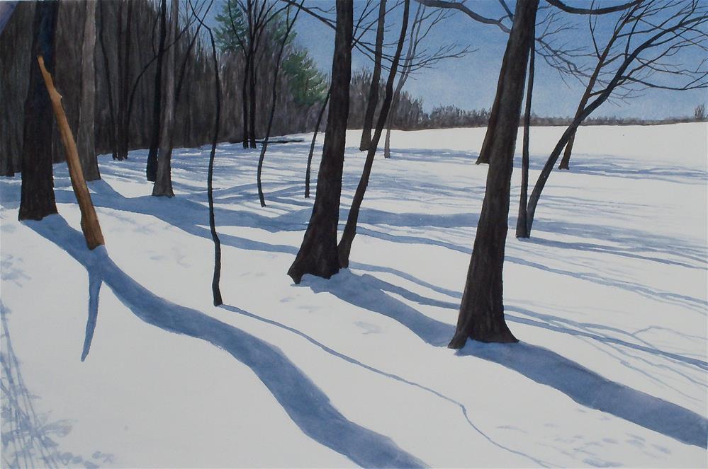 """Fairfield Snow V"" original fine art by Greg Arens"
