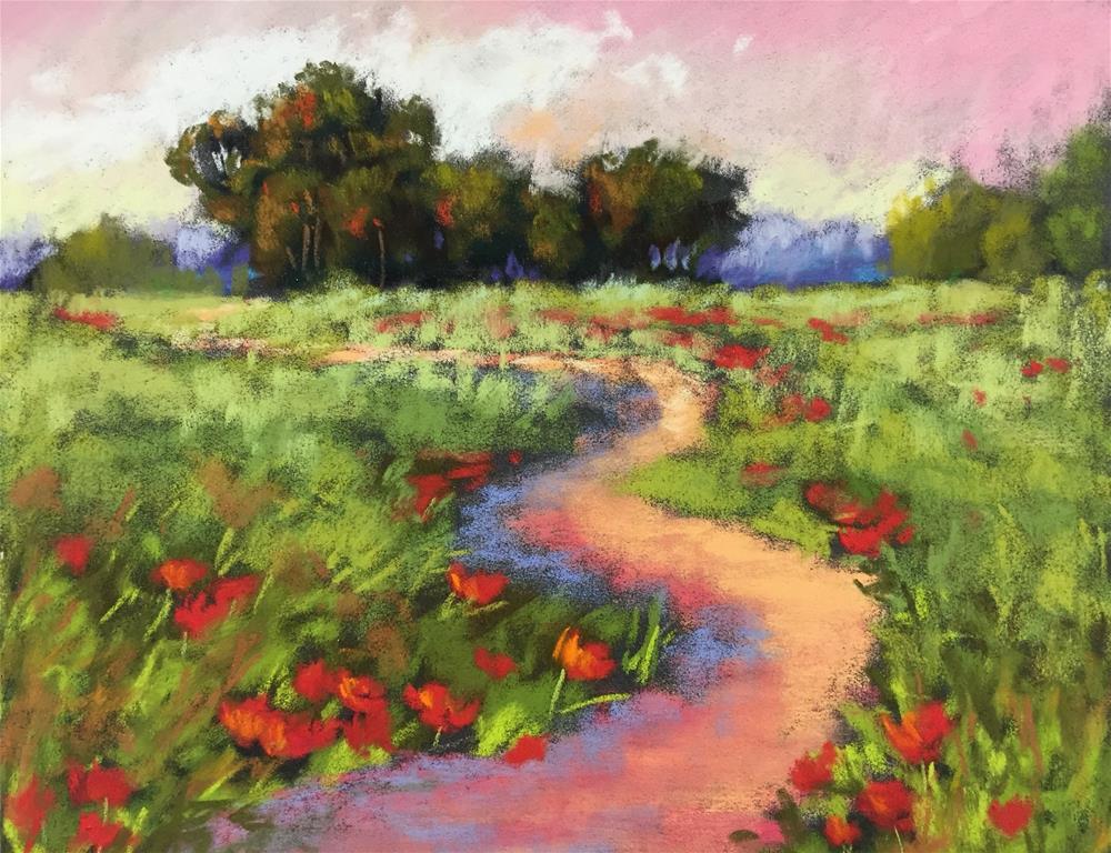 """""""Red Poppy Field"""" original fine art by Sherri Cassell"""