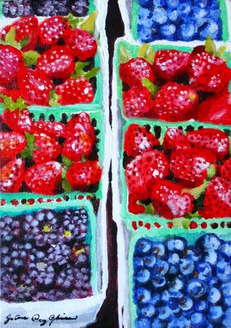"""Berry Good Summer"" original fine art by JoAnne Perez Robinson"
