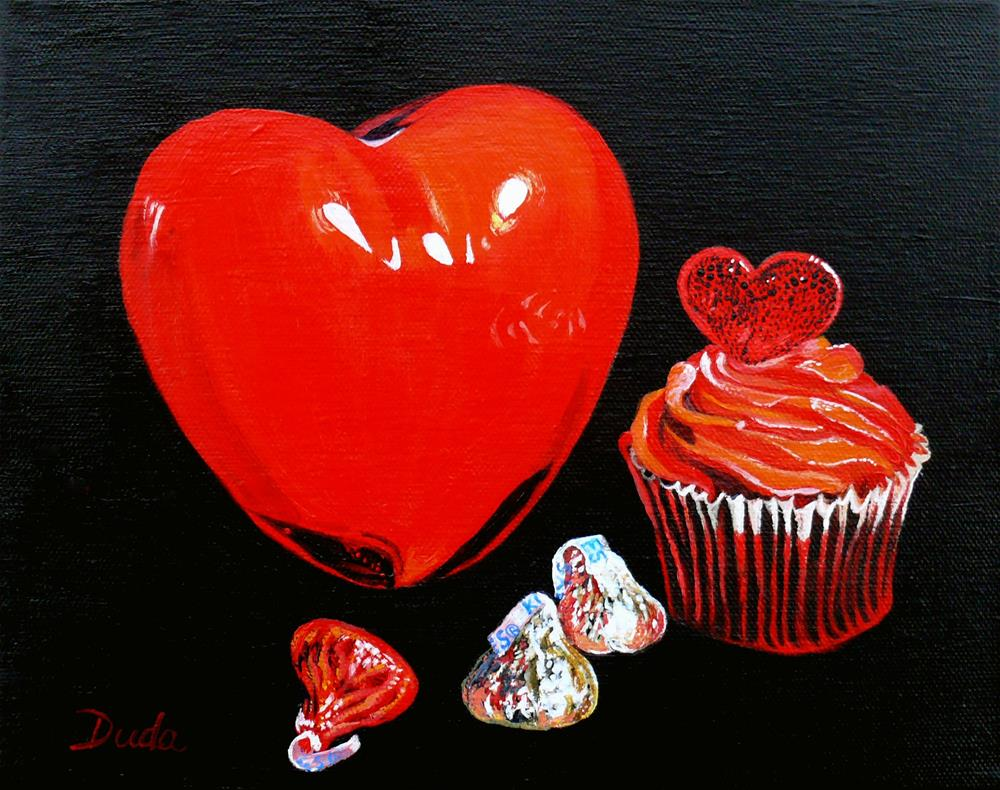"""Perfect Valentine Sweets No Calories"" original fine art by Susan Duda"