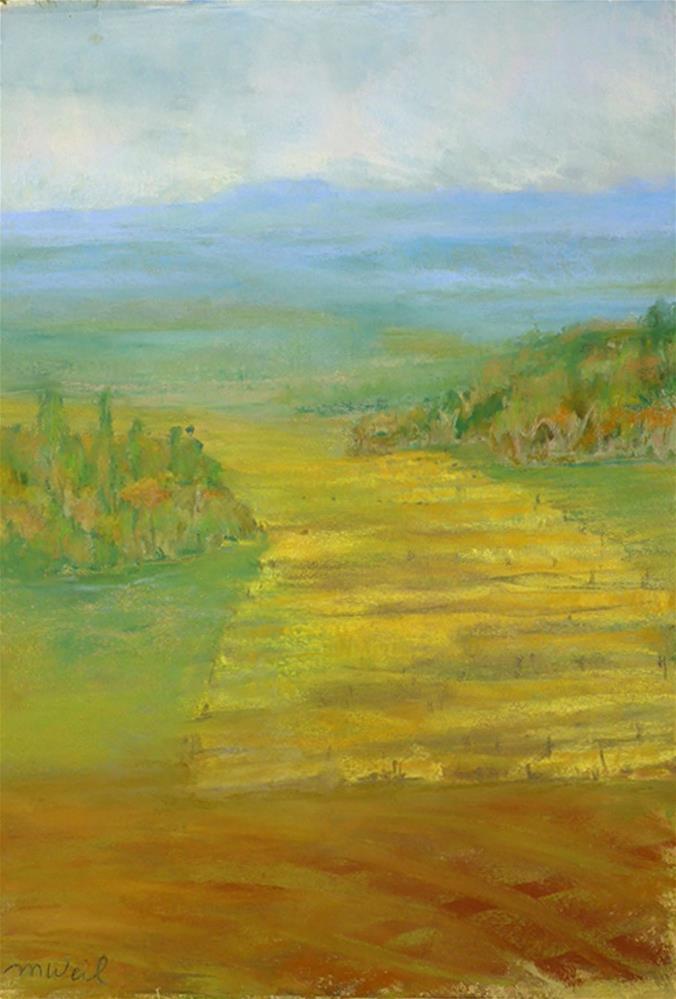 """Generous Hills"" original fine art by Mary Weil"