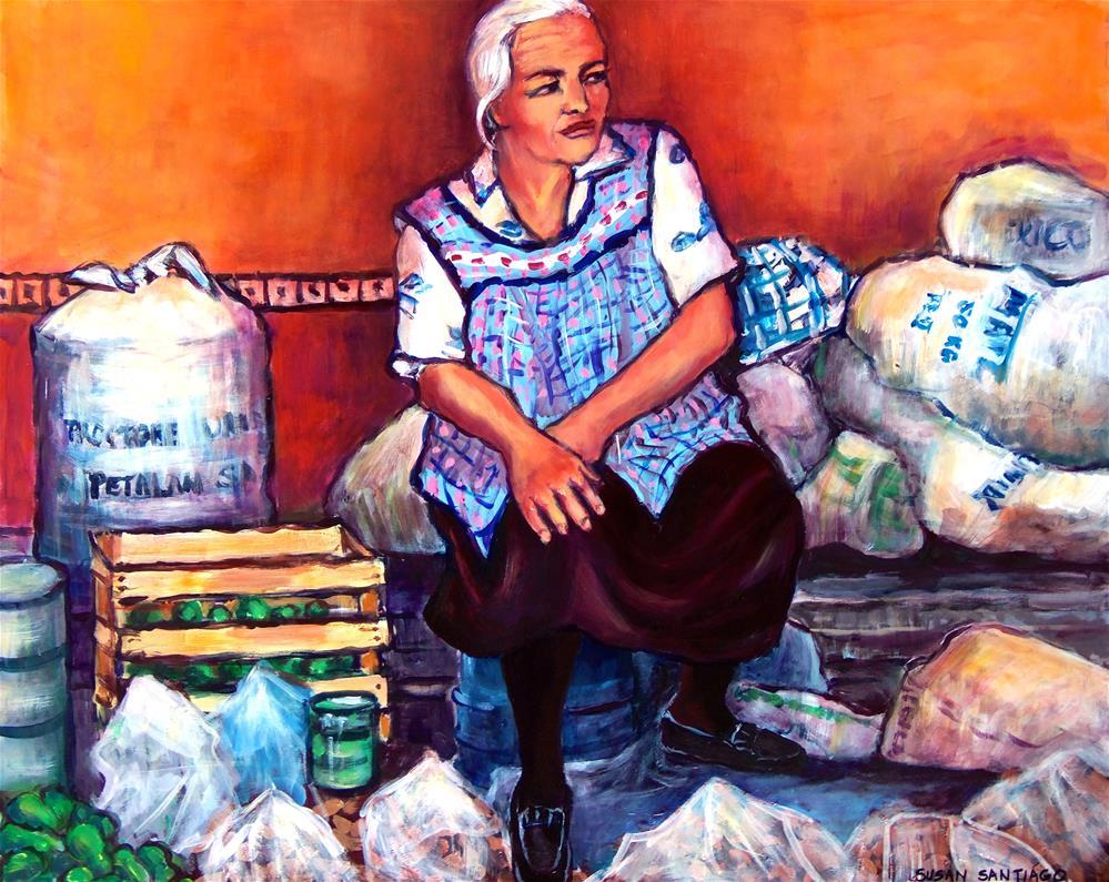 """Market Woman"" original fine art by Susan Santiago"