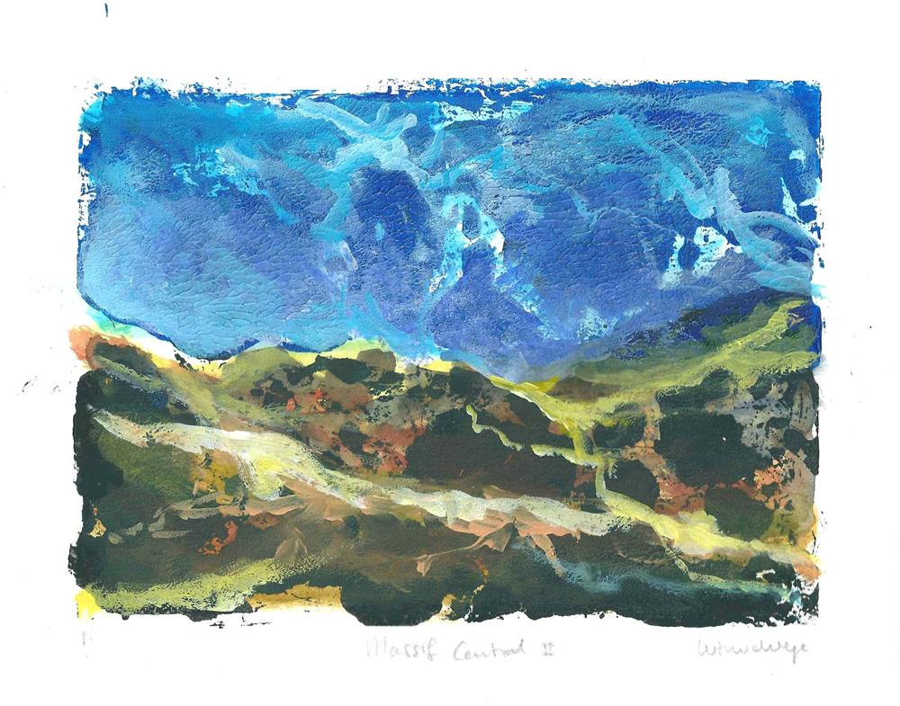 """Massif Central France 2"" original fine art by Wim Van De Wege"