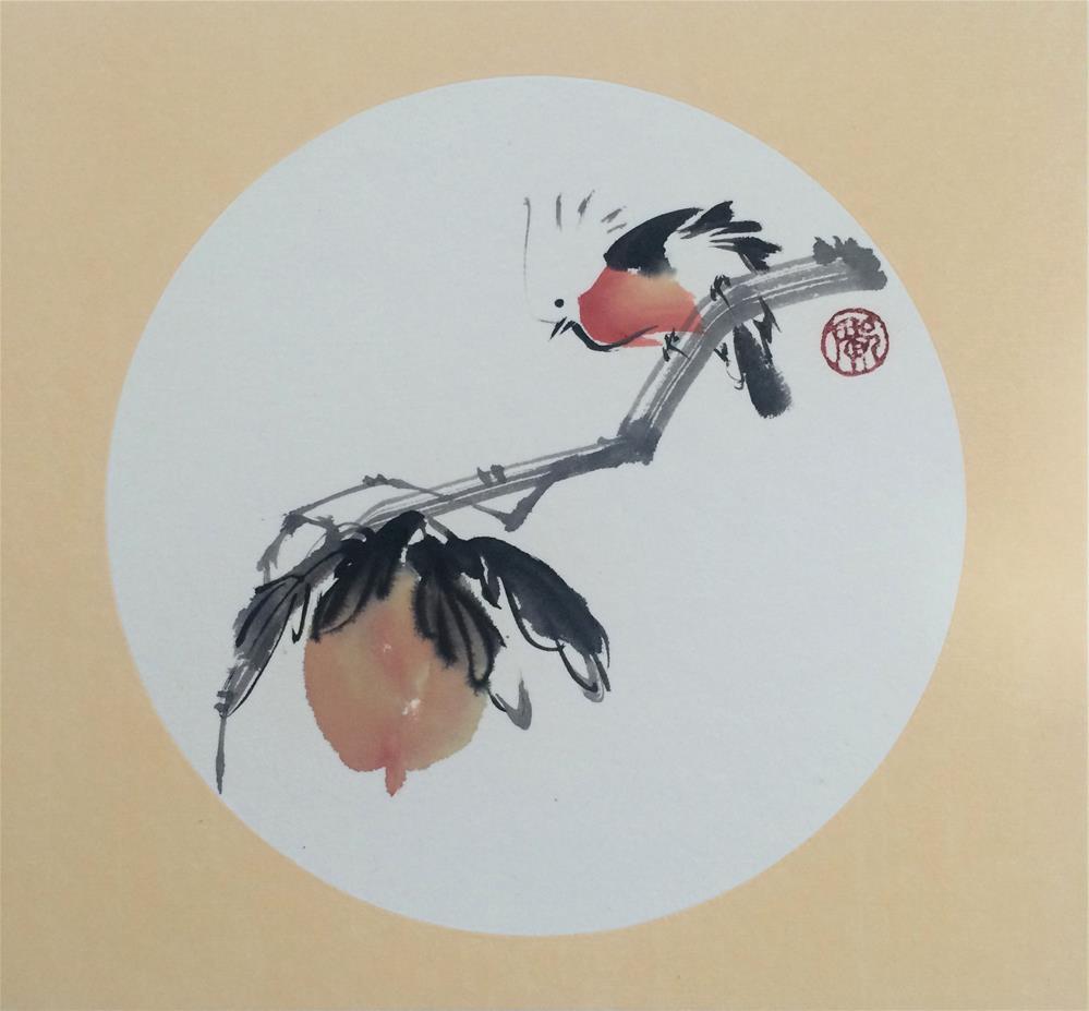 """Peach"" original fine art by R kwong"