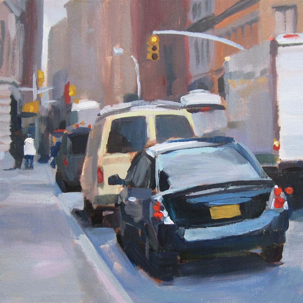 """""""NY Street Scene"""" original fine art by Kaethe Bealer"""