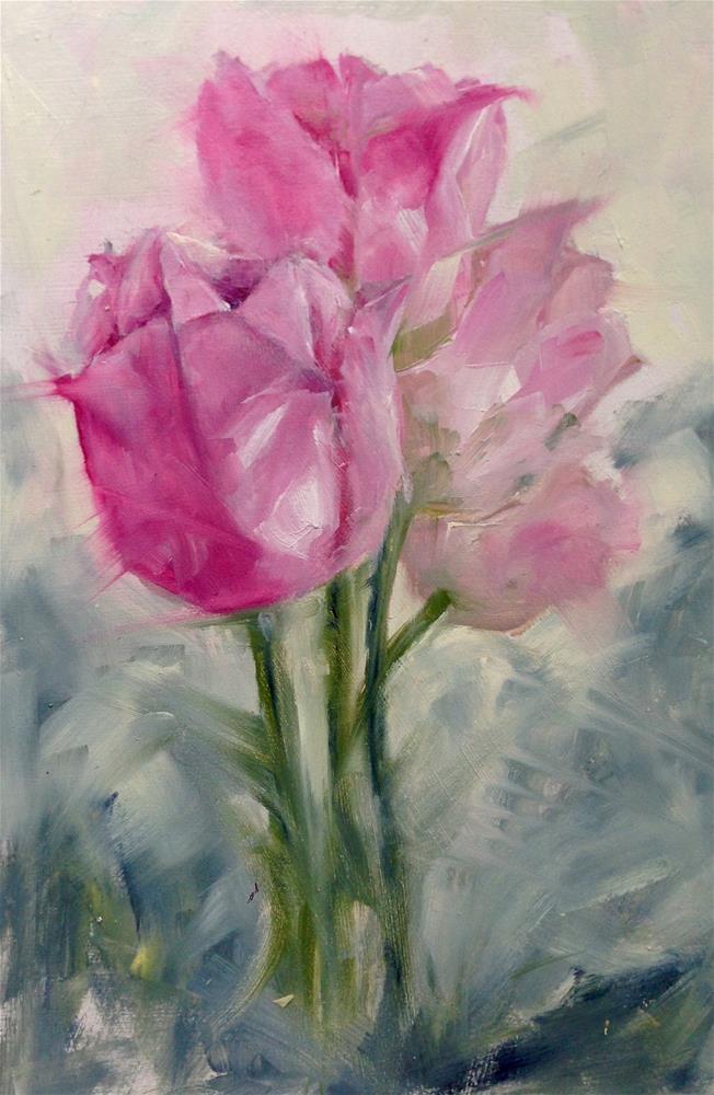 """""""Wispy Pink"""" original fine art by Eileen Hennemann"""
