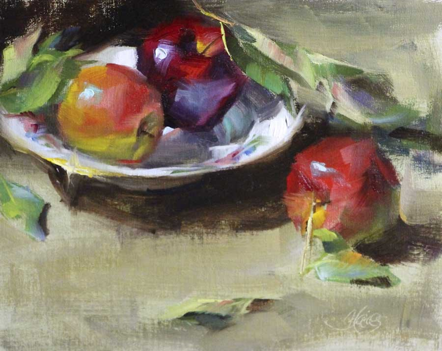 """Bowl of Apples"" original fine art by Pamela Blaies"