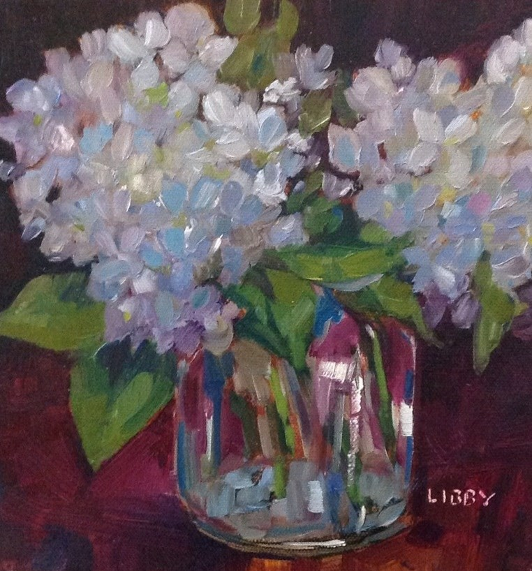 """Blue in Vase"" original fine art by Libby Anderson"