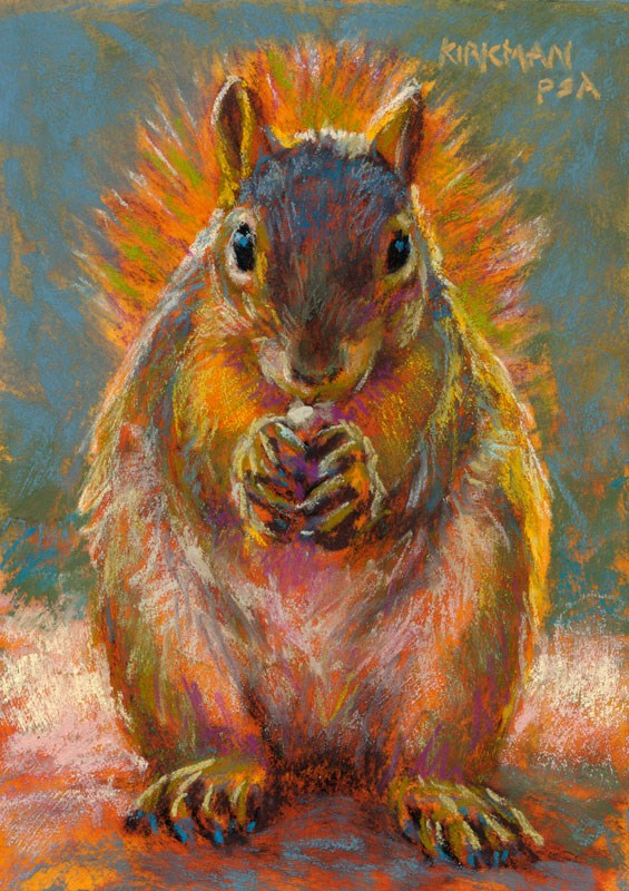 """Happy Thanksgiving from Tidbit"" original fine art by Rita Kirkman"
