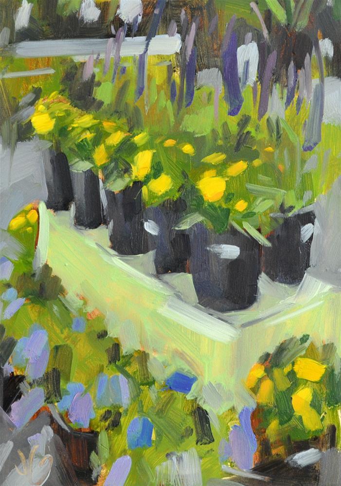 """""""Rosie's Blooms"""" original fine art by Jessica Green"""