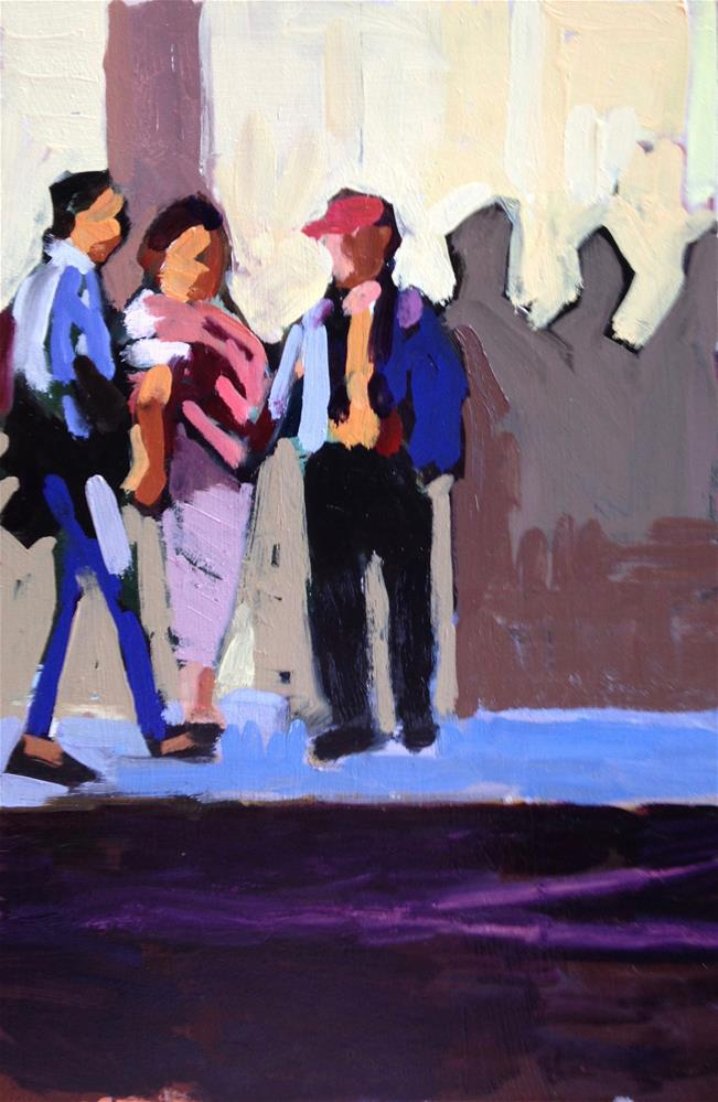 """Waiting For David Hockney"" original fine art by Pamela Hoffmeister"