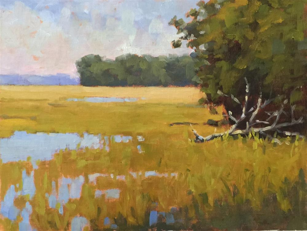 """Autumn Marsh"" original fine art by Colleen Parker"