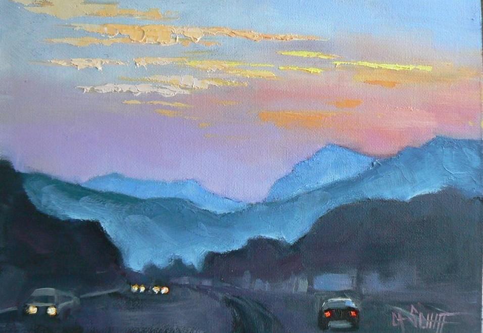 """GOOD MORNING, CAROLINA, 6X8, OIL"" original fine art by Carol Schiff"