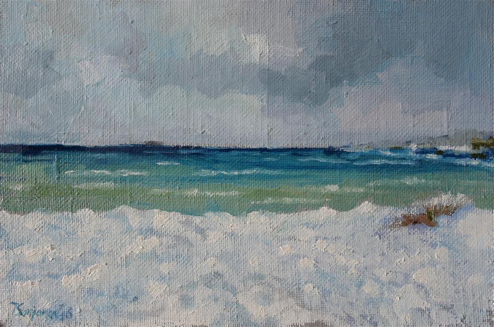 """spring sea"" original fine art by Juri Semjonov"