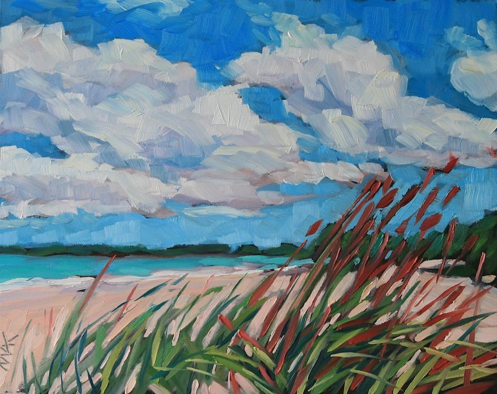"""Beach Day"" original fine art by Mary Anne Cary"