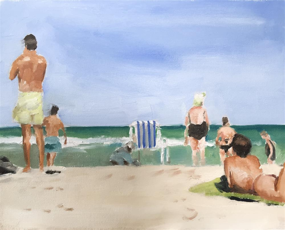"""Beach Scene"" original fine art by James Coates"