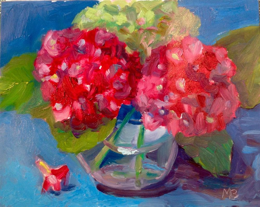 """Hydrangeas #1"" original fine art by Marcia Bergtholdt"