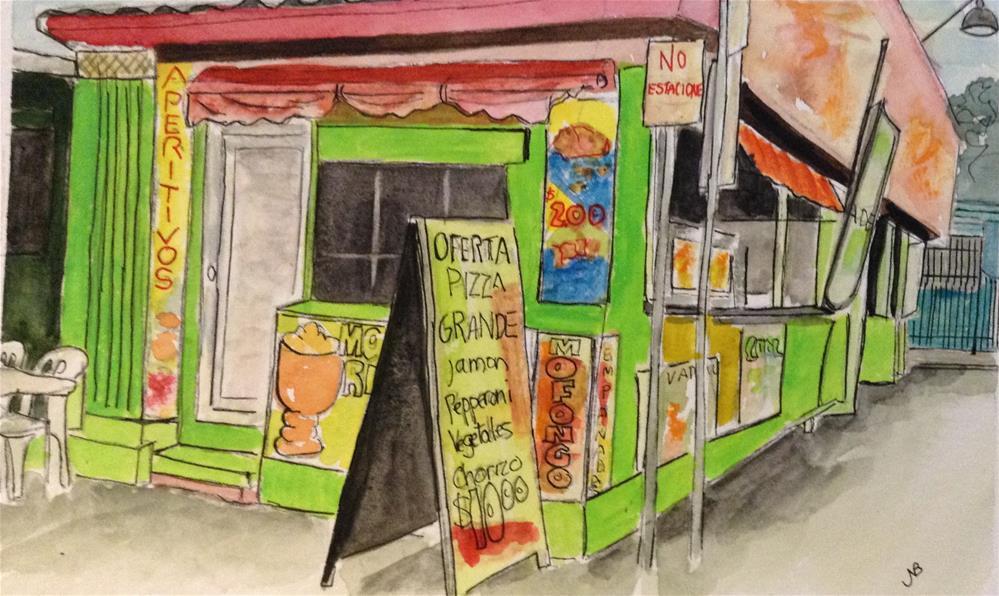 """""""Snack Shack in PR  6x9 Watercolor/ink"""" original fine art by Nancy Beard"""
